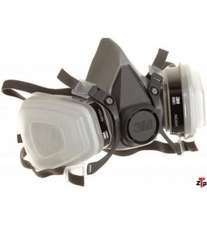 3M 6200 Low-Maintenance Half-Mask Organic Vapor, P95 Respirator Assembly, Medium