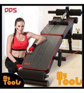 Foldable Sit Up Bench Multifunction Gym Sit Up Exercise Rope & Spring Pull