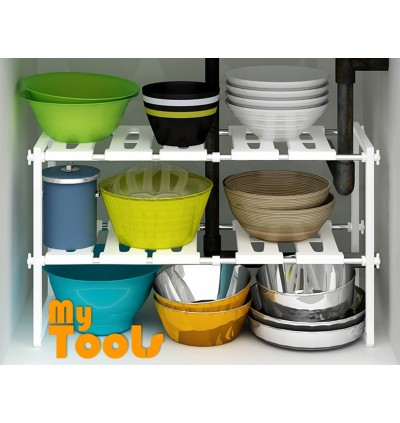 [READY STOCK] Expandable Kitchen Organizer Under Sink Rack Shoe Book Rack
