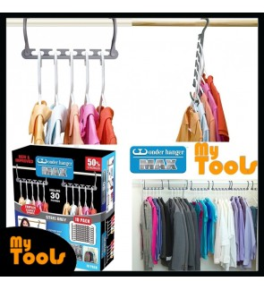 10 pcs Wonder Hanger Max 30 Pounds Stronger Closet Space Clothing Magic Hanger