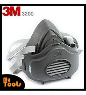 3M 3200 Half Facepiece Single Cartridge Respirator+3M 3700 Filter Holder+3M 3774