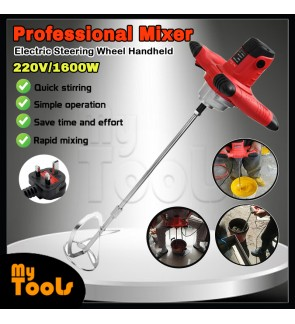 1600W Electric Steering Wheel Mixer Handheld Stirrer Paint Cement Grout Mixing