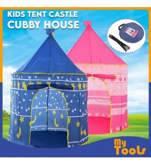 Mytools Portable Folding Kids Play Tent Castle Chubby House (Blue)