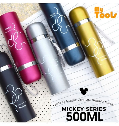 500ml Micky Mouse Stainless Steel Thermos Mug Bullet Cup Termos