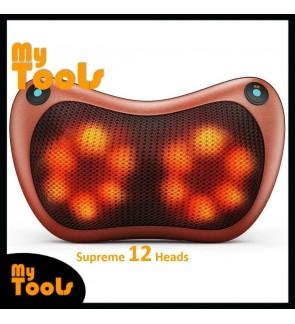 Car & Home Cervical Massage Dual Use Head Body Foot Neck Pillow - 12 Balls