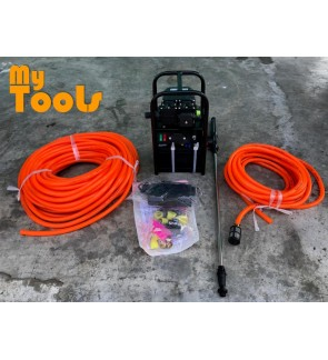 Mytools Portable Double Pump Rechargeable Battery Sprayer c/w 30m Sprayer, 10m Suction Hose, Accesso