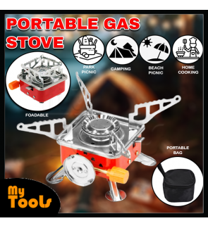Mytools Mini Camping Portable Lotus Outdoor Picnic Gas Stove Cooking Windproof