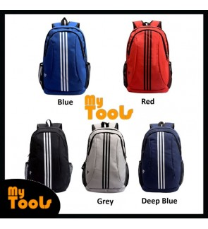 Adidas 3 Stripes Fashion Laptop School Travel Backpack Bag