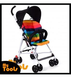 Easy Fold Lightweight Baby Stroller Brake Prams with light cushion