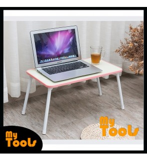 Computer Laptop table Foldable Study table Portable Desk W Side Rubber Cover