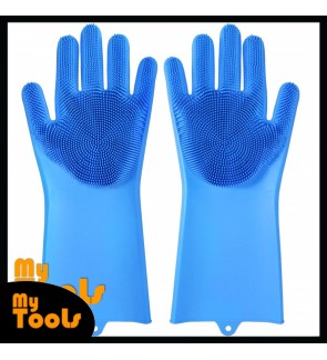 Mytools 1 Pair 2PCS Magic Silicone Scrubber Rubber Cleaning Gloves Dish Washing