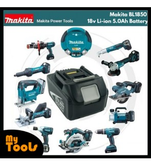 BL1850 Makita 18v Li-ion 5.0Ah Battery for Cordless Power Tool + 12 Months Original Makita Warranty