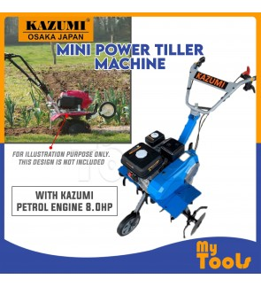 Mytools Garden Mini Power Tiller / Cultivator with Kazumi Petrol Engine 8.0HP (Japan)