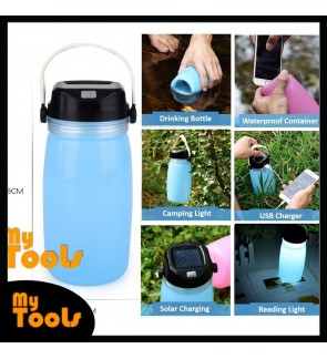 Mytools 6 In 1 750ML Foldable Drinking Bottle Solar Charger Light Waterproof