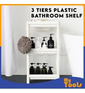 Mytools 3 Tiers Plastic Bathroom Shelf Rack Kitchen Multipurpose Storage Space Saver