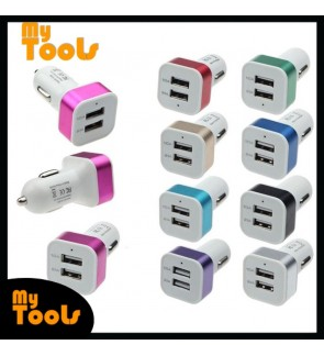 2 Port USB Universal Car Charger Adapter Socket Triple Car-charger 2.1A 1A