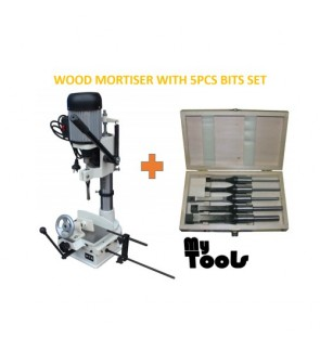 Wood Mortiser Machine /Mortising / Square Hole Maker With 5pcs Mortising Bit Set