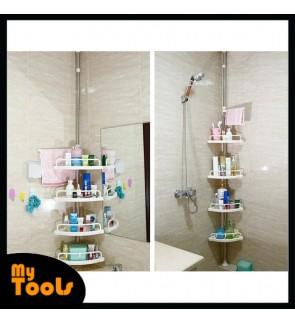 Adjustable 4 Tier Multipurpose Toilet Bathroom Kitchen Corner Shelf Storage Organizer Rack