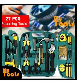 Mytools 27 pcs Tools Set Hardware 27pcs Set Box Home Living Box Repairing Tool Kits (Saw, Spanner, Screwdriver)