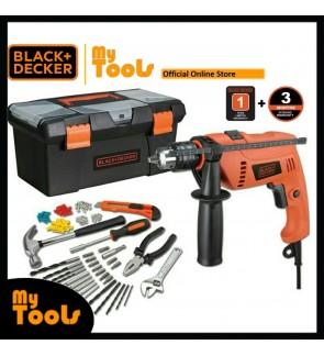 Black + Decker HD650BXH-XD 650W 13mm Hammer Drill With Home Starter Kits ( HD650BXH )