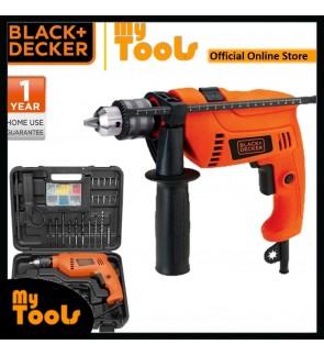 BLACK + DECKER HD555KOPR 550W 13MM Hammer Drill With 88 Accessories Diy Set