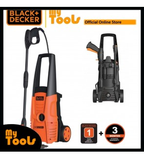 BLACK + DECKER PW1500S 1500W 120Bar Water Jet High Pressure Cleaner