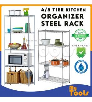 Mytools 4/ 5 Tier Kitchen Dapur Organizer Steel Rack Shelf