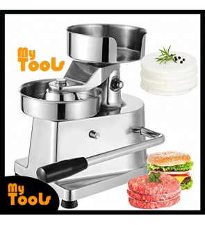Mytools 130mm Hamburger Patty Press Maker Manual Burger Machine Stainless Steel Hand Meat Press