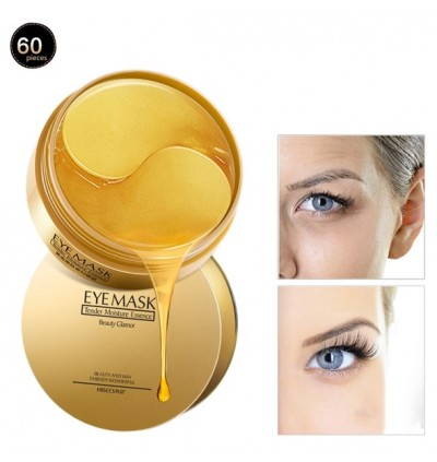 IMAGES 24K Gold Collagen Eye Mask for Eyebag Puffiness Dark Circles Fine Lines Wrinkles Crows Feet 60 pcs