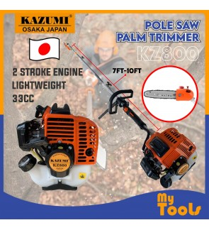 Kazumi KZ800 2 Stroke Petrol Pole Saw Pruner Trimmer Branch Cutter Chain Saw (Japan Technology)