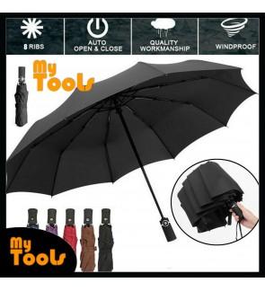 Mytools Auto Umbrella Automatic Open Close One Handed Windproof Vented Umbrella