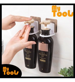 Mytools 1pc Self-Adhesive Wall Mounted Bathroom Bottle Holder Shower Gel Shampoo Hook Punch-Free Magic Sticker Hanger
