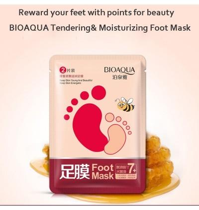 BIOAQUA 2PCS / PACK Honey Soft Moisturizing Hydrating Peel Off Dead Skin Foot Mask