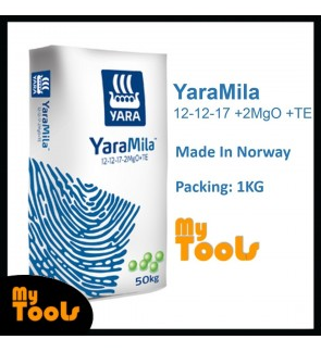 Yara YaraMila 12-12-17 +2MgO +TE 1KG Imported Flowering Fruiting Fertilizer Baja Berbunga (Made In Norway)