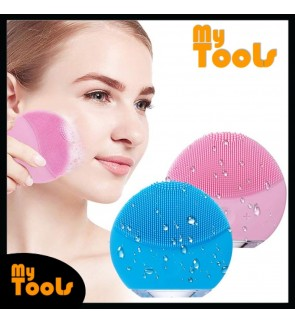 Mytools Electric Silicone Facial Cleaning Brush Ultrasonic Makeup Remover Cleaner Massager Face Wash USB Rechargeable