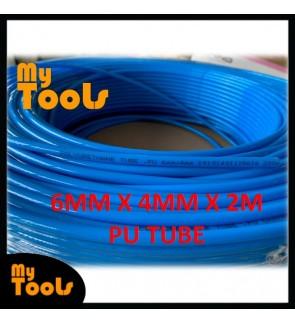 Mytools 2 Meter 6mm x 4mm Pneumatic Polyurethane PU Air Compressor Hose Tube Blue