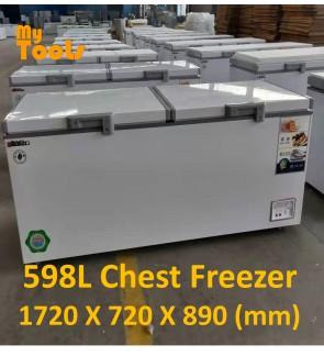 Mytools 598L Premium Chest Freezer With Lock 1720 X 720 X 890 (mm) 5 YEARS Compressor warranty