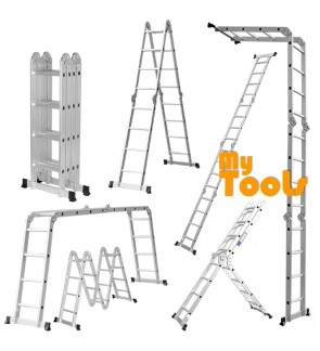 16 Step 16Feet Multipurpose Aluminium Ladder (Heavy Duty)