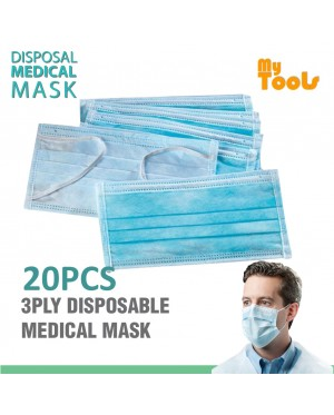 Mytools  20pcs 3ply 3 layer Non Woven Mask Disposable Dust-proof Face Mask