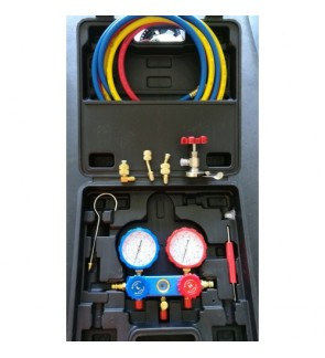R22 / R134a / R404a / R410a Multipurpose Manifold Gauge Set (Accessories Added)