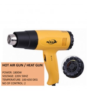 Hot Air Gun / Heat Gun 1800W With Nozzle & 2 Speed