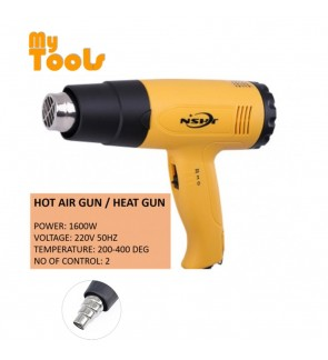 Hot Air Gun / Heat Gun 1600W With Nozzle 2 Speed