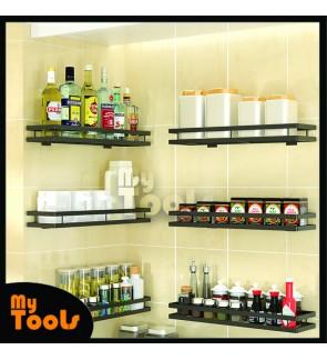 Mytools Spice Rack Seasoning Rack Condiment Storage Kitchen Holder Rak Dapur Sauce Jar Rack Wall-mounted Punch-free