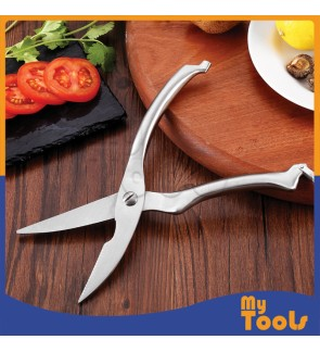 Mytools Kitchen Scissor Stainless Steel Chicken Fish Bone Scissors Poultry Shears Multi Purpose Cutter Cooking Tools Gunting Pemotong Tulang Ayam / Ikan