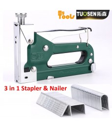 Mytools Tuosen 3 in 1 Manual Heavy Duty Hand Nail Gun Steel Furniture Stapler Nailer For Framing Staples Woodworking Tacker Tools
