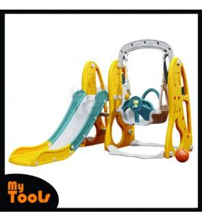 Mytools  3 in 1 Children's slide and swing combination indoor home kindergarten baby small playground children multifunctional toy / Full Height Playground