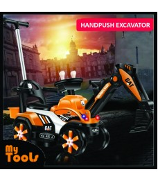 Mytools Children's Handpush Excavator  Sit and Ride Large Toy Boy's Full Kid Creative Trending Lights Light, Tone Music Before In, After Back Left Turn, Right Turn