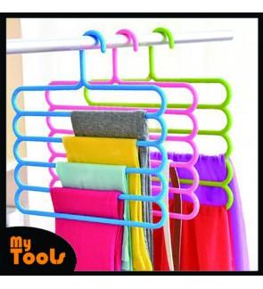 Mytools Fullhouse 5-Tier Trousers Holder Hook Scarf Wraps Shawl Ties Storage Hanger Wardrobe Shelf