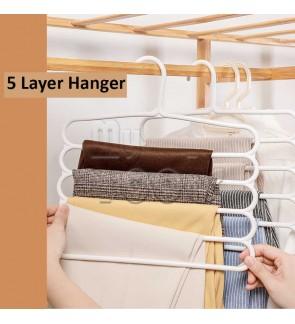 Mytools Fullhouse 5-Tier Trousers Holder Hook Scarf Wraps Shawl Ties Storage Hanger Wardrobe Shelf (BLUE)