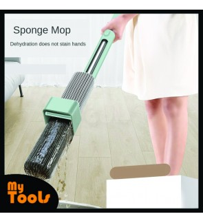 Mytools Hand Free Can Stand Mop for Wash Floor 180 Magic Squeeze Flat Mop 34cm Large Sponge Lazy Mop Household Cleaning Home Wooden Tile